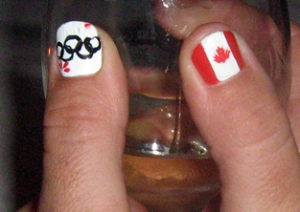 getting into the Olympic spirit (courtesy of Jacquie Brooks)