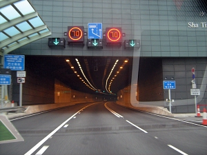 on the way to the aiport....this new tunnel has only been open for a couple of months and still looks shiny