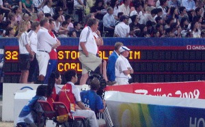 Team Great Britain watches Tim Stockdale's round
