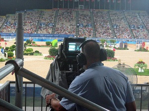 capturing all the action for television viewers around the world