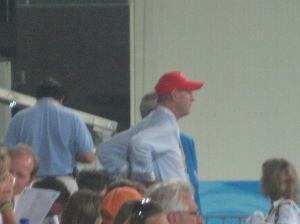 Ian Millar was also scoping out the competition, watching some rounds to see how the course was riding. Ian and In Style put in another great performance and only had 1 rail (the massively wide oxer)