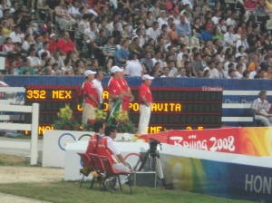 Mexico watches their rider on course.