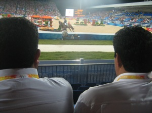 I'm pretty sure these 2 guys were bodyguards for the Saudi prince who was sitting in my section.