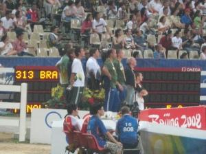 Team Brazil anxiously watch Pedro Veniss and Blanc de Blancs........