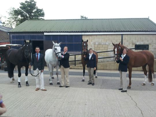 Dressage Team at Hartpury just before the jog
