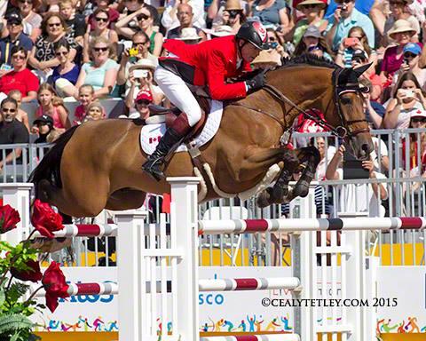 Ian Millar & Dixson - 2015 Pan American Games Showjumping Team Canada