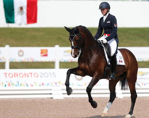 Megan Lane and Caravella 2015 Pan American Games Dressage